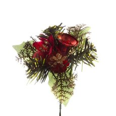 christmas picks christmas pick with poinsettia flower 4 pack red 125cmh