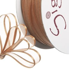 Organza Ribbons - Ribbon Organdy Satin Edge Copper (10mmx20m)