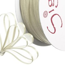 Ribbon Organdy Satin Edge Cream (10mmx20m)