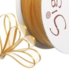 Ribbon Organdy Satin Edge Gold (10mmx20m)