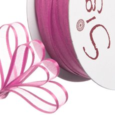 Ribbon Organdy Satin Edge Hot Pink (10mmx20m)