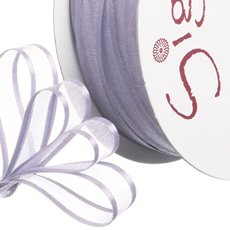 Ribbon Organdy Satin Edge Lavender (10mmx20m)