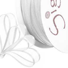 Organza Ribbons - Ribbon Organdy Satin Edge White (10mmx20m)