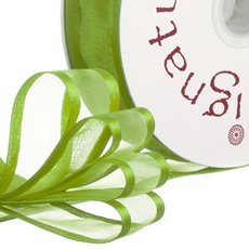 Ribbon Organdy Satin Edge Lime (23mmx20m)