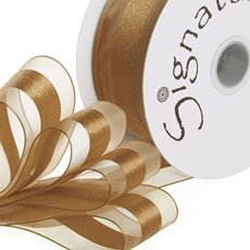 Ribbon Organdina Satin Stripes Bronze (38mmx20m)
