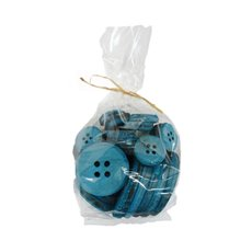 Decoration Button Mix Sizes 30pcs Aqua (7cm, 5cm, 3cm)