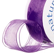 Ribbon Organza Wire Edge Violet (38mmx20m)