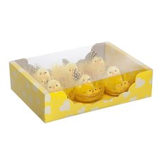 Chicken Fluffy with Babies Pack of 6 Yellow