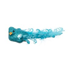 Bird Glitter Fancy Tail with Clip 2 Pack Blue (12.5cmD)