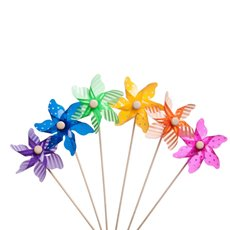 Windmill Pick Carnival 12 Pack (9x28cmH) Assorted Colours