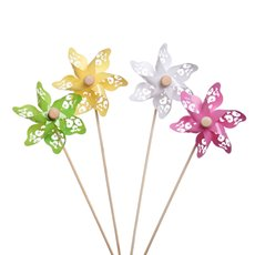 Windmill Pick Lacey 12 Pack (9x28cmH) Assorted Colours