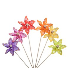 Windmill Pick Daisy 12 Pack (9x28cmH) Assorted Colours