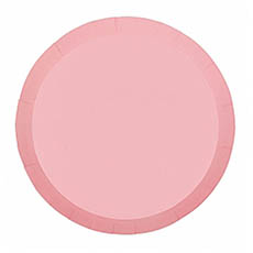 Party Tableware - Paper Round Dinner Plate Pink (23cm) Pack 10