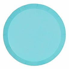 Party Tableware - Paper Round Banquet Plate Pastel Blue (26cm) Pack 10