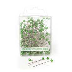 Round Pearl Head Pins Apple Green (3.5mm x 4cm) 144 pcs