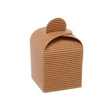 Cubic Box Bomboniere Party Favour 10 Pack Kraft (5x5x5.5cmH)