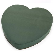 Oasis Heart Solid Strass Paper Base (35cm)