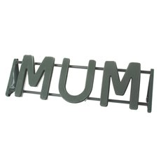 Cages, Casket Covers & Trays - Floral Foam Strass Letter MUM (76x26.5cmH)