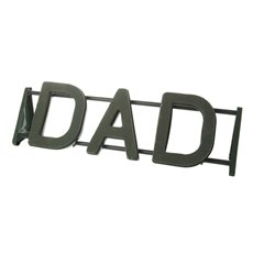 Cages, Casket Covers & Trays - Floral Foam Strass Letter DAD (76x26.5cmH)