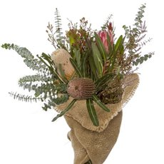 Fresh Australian Native Flowers - Fresh Native Bunch in Jute Wrap