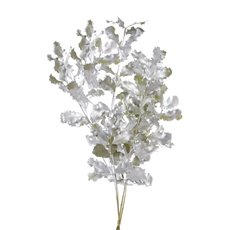 Holly Oak Frosted Silver 60cm x 3 Stem