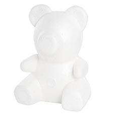 Other Polystyrene Shapes - Polystyrene White Bear (21x32cmH)