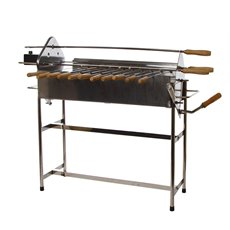 Premium Gifts & Premium and Corporate - BBQ Stainless Steel Cyprus Grill 83x32x65cm with Auto Rotate
