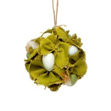 Natural Ball with Jute and Eggs Green (12cmD)