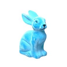 Flocked Rainbow Bright Bunny Blue (25.4cmH)