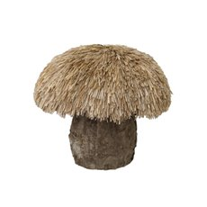 Grass Mushroom Natural Brown (18x15cmH)