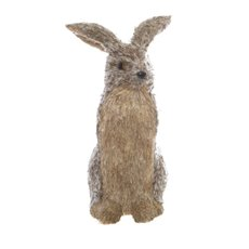 Grass Rabbit Standing Natural Brown (20x41cmH)