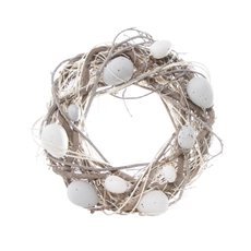 Cozy Nest Eggs Wreath Natural (25cmD)