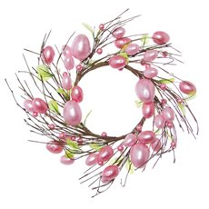 Eggs & Beads Wreath Soft Pink (35cmD)