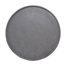 Cement Look Round Decorative Tray Grey (39cmD)