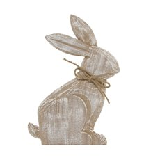 Wooden Craft Rabbit White Wash (18.5x26.5cmH)
