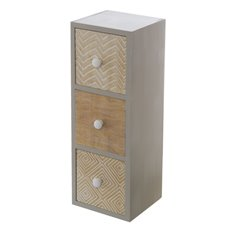 Wooden Craft Cabinet with 3 Drawers (12x11x34cm)