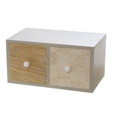 Wooden Craft Cabinet with 2 Drawers Planter (12x11x24cm)