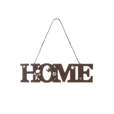 Wooden Home Hanging Decoration Brown (20cmx5cmH)