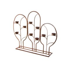 Reception Decoration - Metal Grecian Tealight Decoration x9 Rose Gold (51x10x43cmH)
