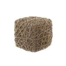 Display Jute Rope Block Cube Natural (23x23x23cm)