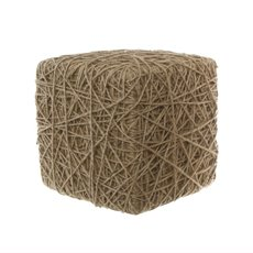 Display Jute Rope Block Cube Large Natural (32x32x32cm)