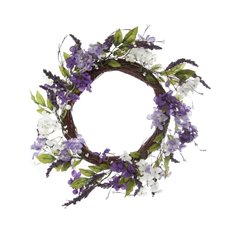 Artificial Jasmine & Lavender Wreath Purple (40cmD)