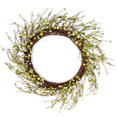 Premium Artificial Berry Wreath Green (50cmD)