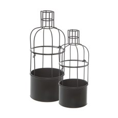 Urban Metal Bottle Planter Set of 2 (15x37cmH)