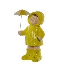 Easter Daniel Figurine with Raincoat Yellow (41cmH)