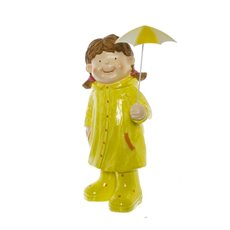 Hayley Figurine Decoration with Raincoat Yellow (42cmH)