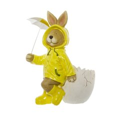 Barney Rabbit Figurine with Raincoat Yellow (44cmH)
