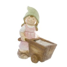 Daisy Figurine Decoration with Wheel Barrow (48cmH)