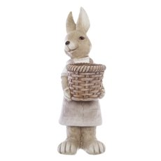 Easter Rosie Rabbit Figurine with Basket (48cmH)