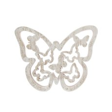 Wooden Butterfly Cutout Design Natural (18X15X2cm)
